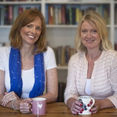 Co-founder of Children in the Middle, Elizabeth McCallum, who is a family barrister, with fellow barrister and the legal practice's other co-founder Sarah Evans.