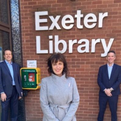 Brewin Dolphin South West funds Defib machine at Exeter library