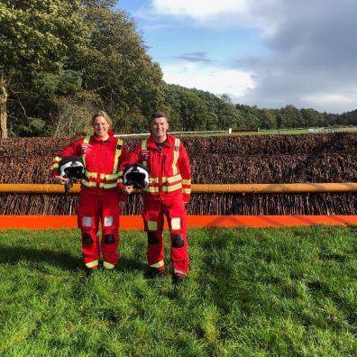 Kate Adlam and Paul Robinson, paramedics with Devon Air Ambulance