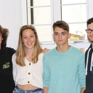 Queen Elizabeth's School students receiving A-Level results