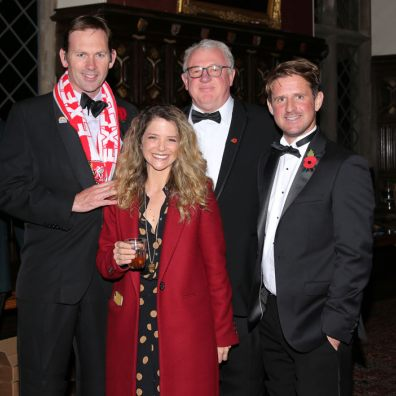 The Earl and Countess of Devon pictured with Julian Tagg, chair of Exeter CITY Community Trust, and Jamie Vittles, chief executive of the charity.