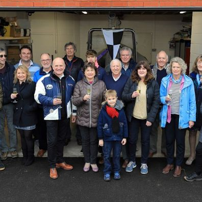 Exe Sailing Club members celebrate the opening of the clubhouse extension - photo Tom Hurley