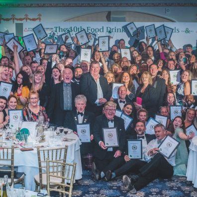 Food Drink Devon Award winners 2021 with host Oz Clarke OBE