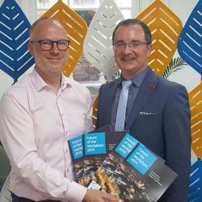 Tim Wadsworth, Director of Space and David Bartram, Director at Exeter City Council at the launch of the Future of the Workplace report.