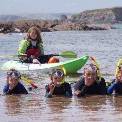 Georgina Weston snorkelling session. Credit Emma Reece.