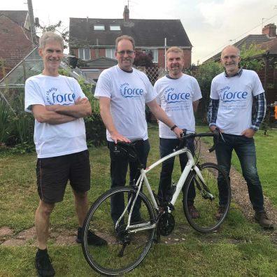 John Heathershaw and his Tour de Devon team