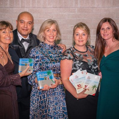 The Kitley House Hotel team celebrate a double win at the Devon Tourism Awards 2019