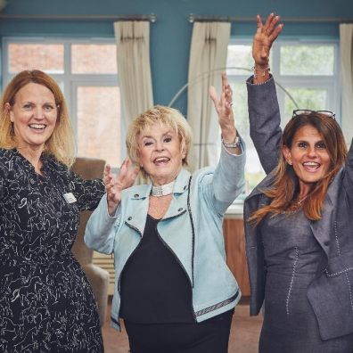 L to R - Fiona Longhurst, RVS; Gloria Hunniford; Fab Marcarian, Inspired Villages