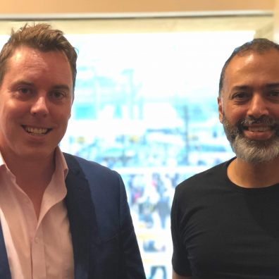 Left to right: Colin Hegarty CEO Hegarty Maths and Dan Sandhu CEO Sparx