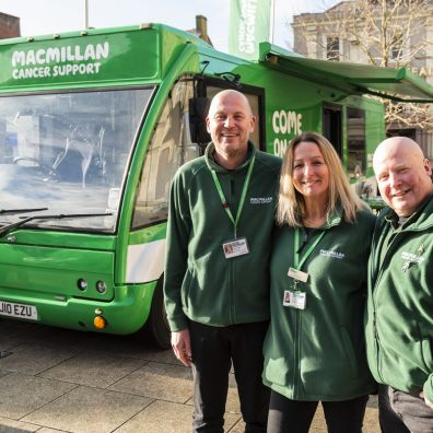 Macmillan mobile support bus coming to Exeter on 23rd July