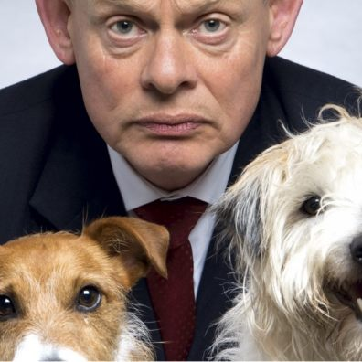 Doc Martin and his dogs