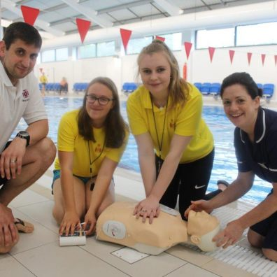 Pupil lifeguards receive in-house training from the school nurse and swimming pool supervisor