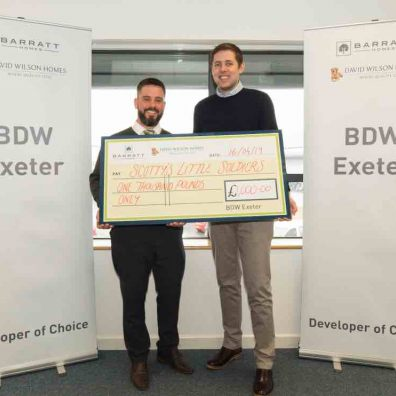 Pictured left to right Sam Jones and Ben Jobson from Barratt Homes