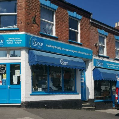 FORCE Cancer Charity Shop front in Heavitree