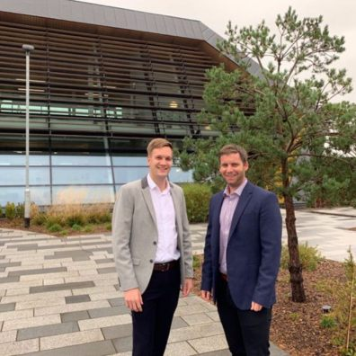 Timewade's Jordan Westcott, Operations Director and Julian Wills, Managing Director.