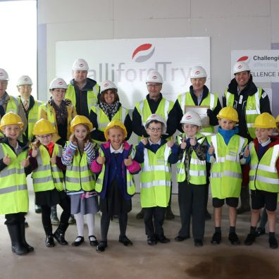 WCPS Year 2 pupils, TCAT trustees and leadership team at the ceremony
