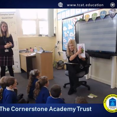 Teachers giving a phonics lesson to Early Years Children
