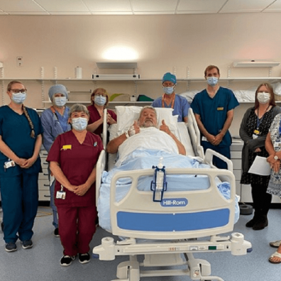 1,000th prostate patient treated with brachytherapy at the RD&E