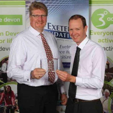 swcomms' company secretary Harry Langley presenting an award at last year's event