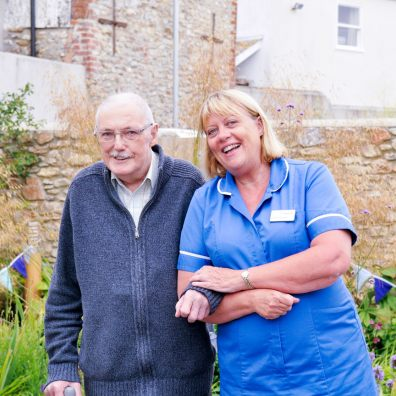 Nurse and patient at the Kings House Day Hospice