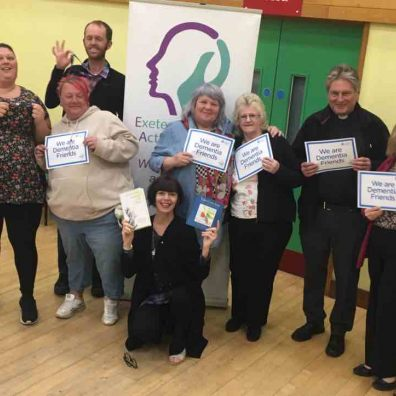 Gina Awad delivering a recent Dementia Friends session and sharing the work of EDAA at Wonford Community Centre