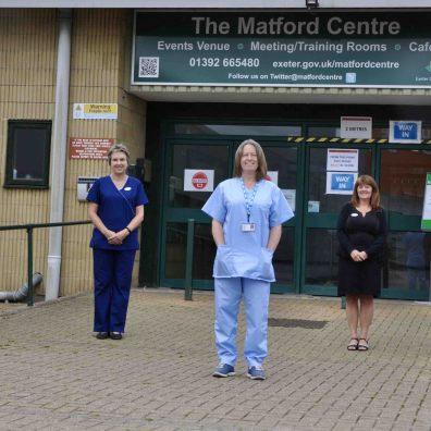 Mike Watson, M/D – Stagecoach SW / Heather Baker,  Lead Nurse – STMG / Dr Emma Green, M/D – STMG / M